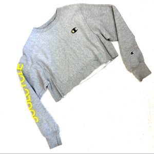 CHAMPION x SOULCYCLE Cropped Crew Sweatshirt